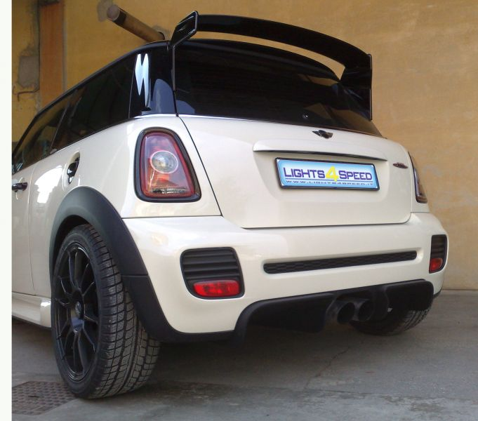 ESTRATTORI MINI GP 012 + ALETTONE GWING ORRANJE + BLACK LINE ON JCW KIT