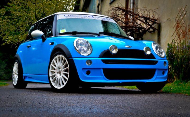 Cooper R50 Wrappata Color Azzurro Puffo
