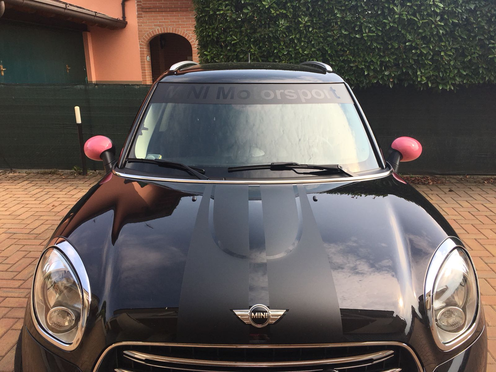mini r60 + fascione parasole mini motorsport  + grafiche matt black