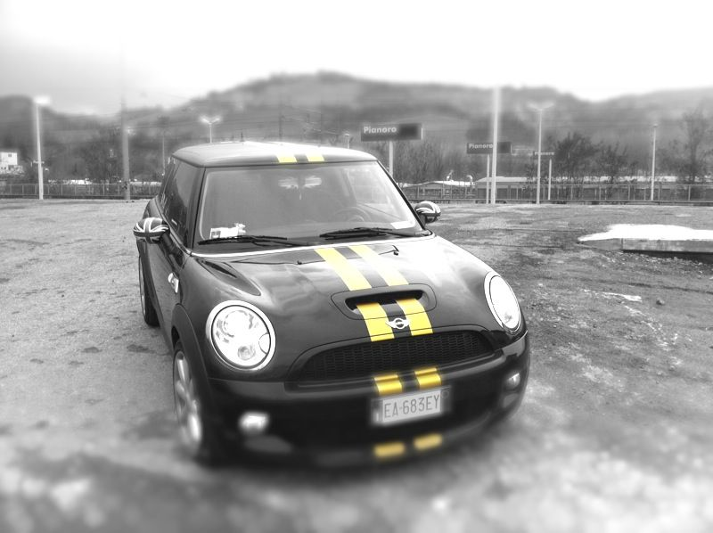 Sport stripes totali dorate r56 cooper S