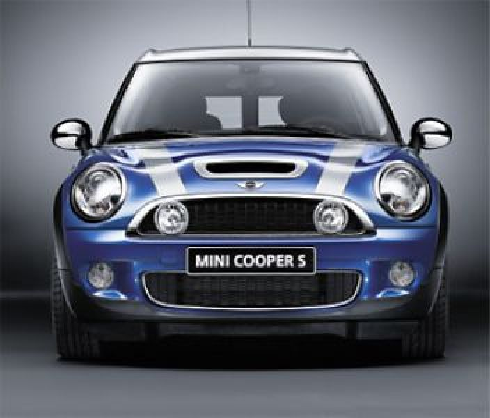 BONNET STRIPES COLORE SILVER MINI R55 / 56 / 57 /58 / 59 :