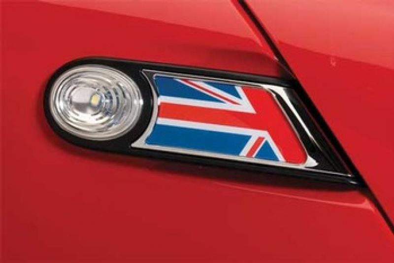SIDE SCUTTLES UNION JACK + SUPPORTI MINI R55 R56 R57 R58 R59 :