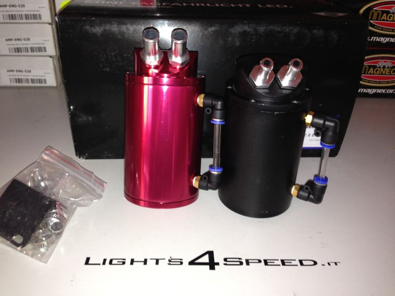 VASCA VASCHETTA RECUPERO VAPORI OLII - OIL CATCH CAN  LIGHTS4SPEED :